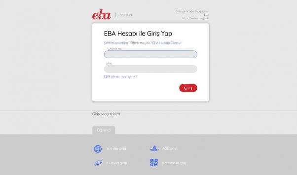 EBAya nasıl giriş yapılır? EBA öğrenci girişi… EBA şifre alma…