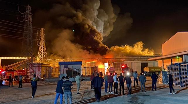 Konyada şeker fabrikasında yangın