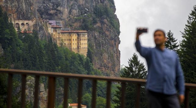 Sümela Manastırını iki ayda 107 bini aşkın kişi ziyaret etti