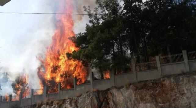 Hastane bahçesinde çıkan yangın paniğe neden oldu