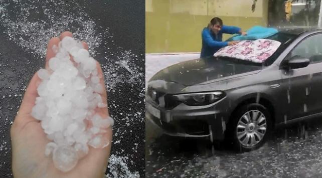 İzmirde dolu yağışı etkili oldu