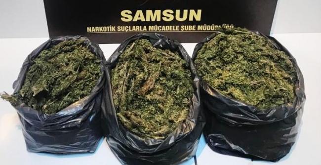 Samsunda uyuşturucu operasyonunda 2 kişi yakalandı