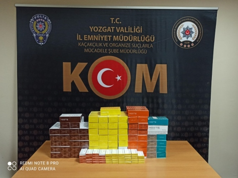 Yozgatta 830 paket kaçak elektronik sigara kartuşu ele geçirildi