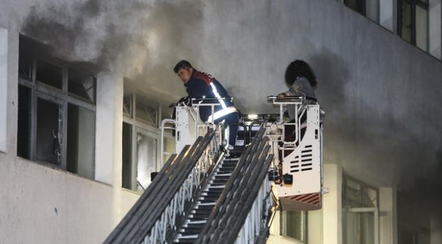 Ankarada hastane yangını