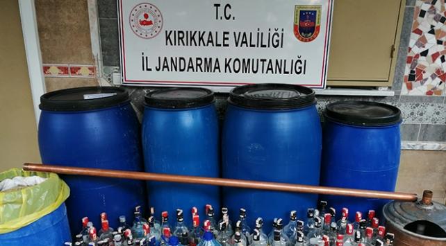 Kırıkkalede 4 bin 819 litre sahte içki ele geçirildi: 11 gözaltı