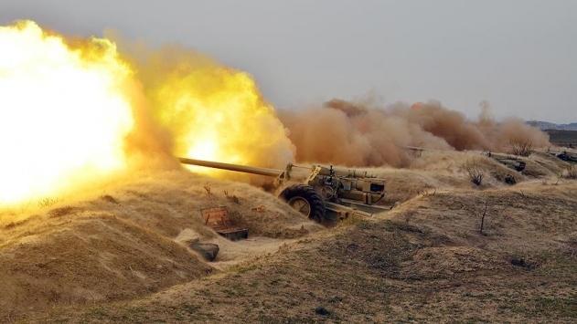 Azerbaycan Savunma Bakanlığı: Ermenistan topçusu Terteri vuruyor