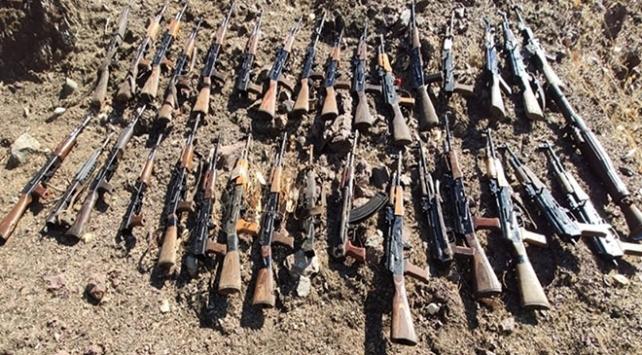 Pençe-Kaplanda PKKnın kullandığı mühimmat ele geçirildi