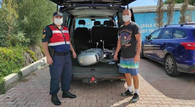 Milli sörfçü Çağla Kubatın çalınan tekne motorunu jandarma buldu