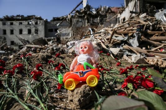 """Ermenistanın Gencedeki sivilleri """"orta menzili balistik füze Elbrus"""" ile vurduğu belirlendi"""