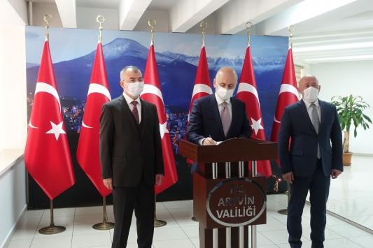 Ulaştırma ve Altyapı Bakanı Adil Karaismailoğlu, Artvini ziyaret etti: