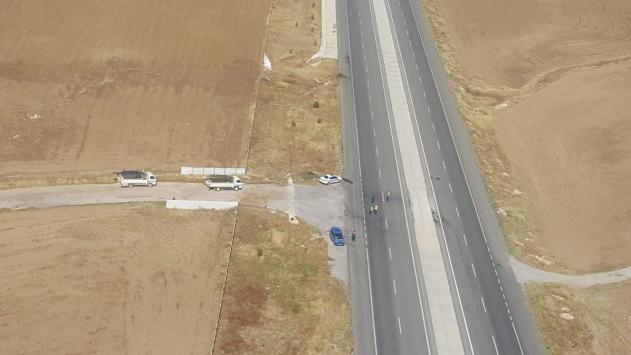 Afyonkarahisarda jandarmadan helikopterle trafik denetimi