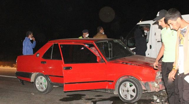 Erzincanda otomobil sürüye çarptı: 5 koyun telef oldu