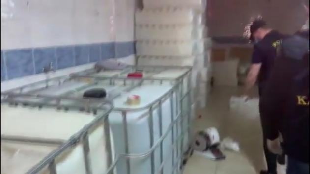 İstanbulda 6 ton etil alkol ele geçirildi