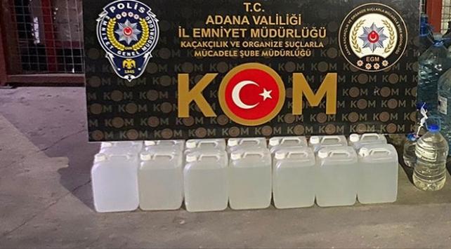 Adanada 618 litre sahte içki ele geçirildi