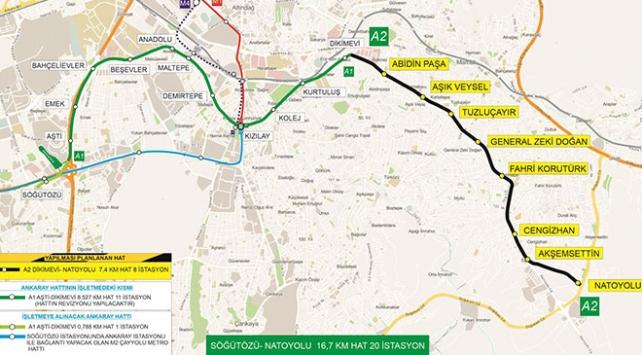 Ankarada Dikimevi-Natoyolu metrosu için ilk imza atıldı