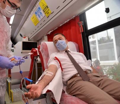 """Bilecikte, """"Kan verelim hayat kurtaralım"""" kampanyası"""