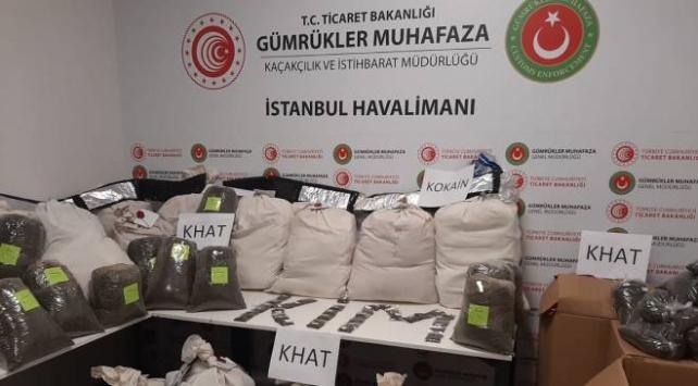 İstanbul Havalimanında 420 kilogram uyuşturucu yakalandı