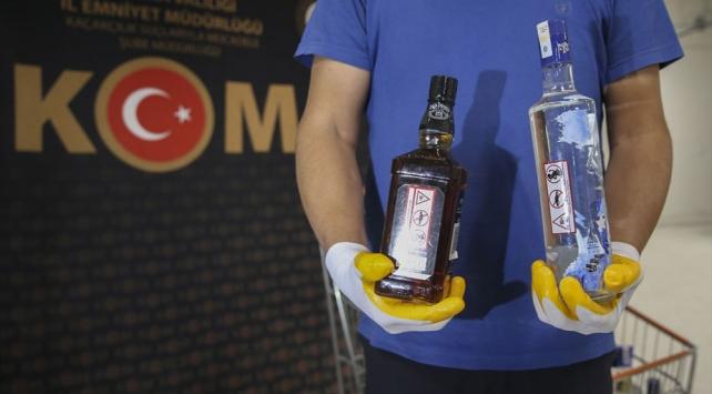 Ankarada 3 ton etil alkol ile 500 litre sahte içki ele geçirildi