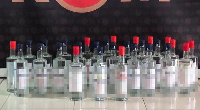 Çeşmede 28 şişe etil alkol ele geçirildi
