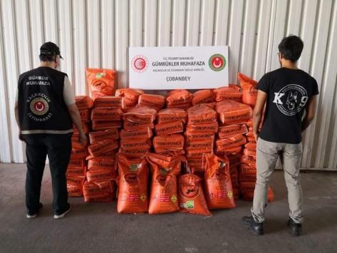 Kiliste 3 bin 600 kilogram potasyum nitrat ele geçirildi