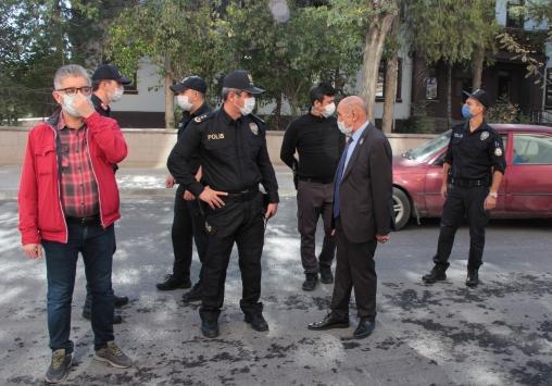 Belediye Başkan Vekili Karadede, Kovid-19 denetimine katıldı