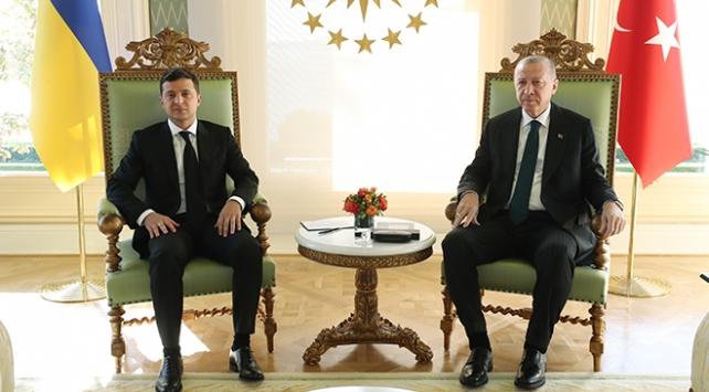 Cumhurbaşkanı Erdoğan ve Zelenskiynin baş başa görüşmesi sona erdi