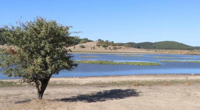 Yayla Gölünde su seviyesi düştü