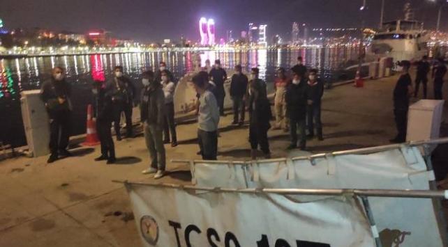 Kaçak kum midyesi avcılarına 93 bin 800 lira para cezası