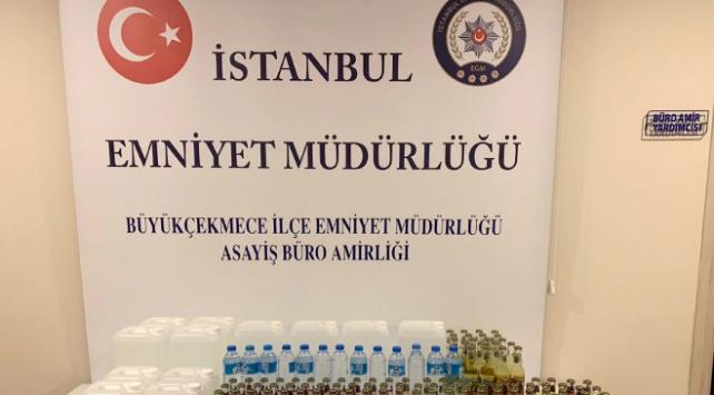 İstanbulda sahte içki operasyonu: 2 gözaltı
