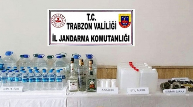 Trabzonda 115 litre sahte rakı ele geçirildi