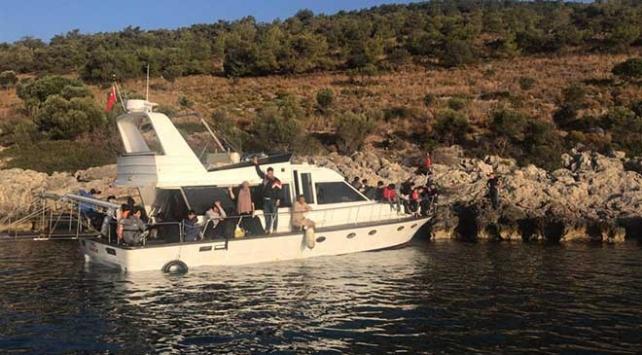 Muğlada 75 düzensiz göçmen yakalandı