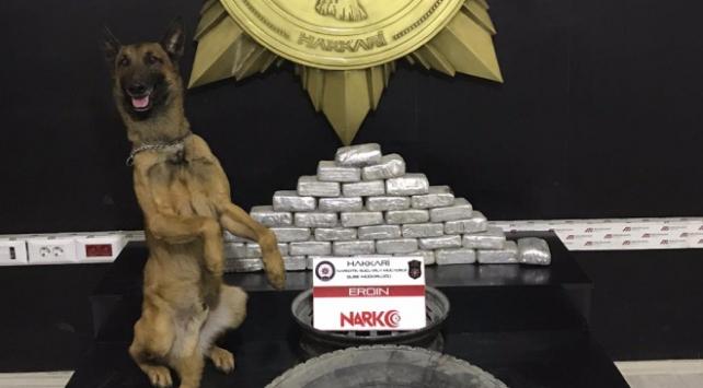 Hakkaride 32 kilogram uyuşturucu madde ele geçirildi