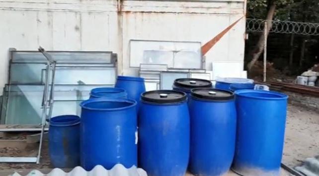 Tekirdağda sahte içki operasyonu: 1 ton 800 litre ele geçirildi