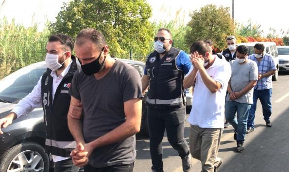 Adanada tefecilere yönelik operasyonda yakalanan 12 zanlıdan 11i tutuklandı