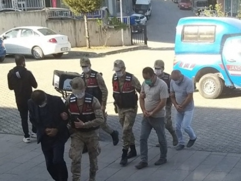 Orduda okuldan etkileşimli tahtalar çalan 4 kişi yakalandı