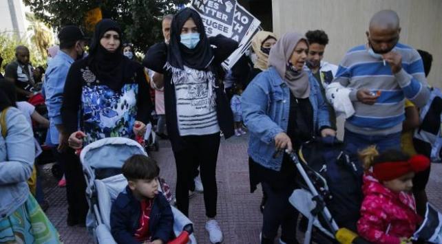 Yunanistanda sığınmacılar, yaşam koşullarının iyileştirilmesini istedi