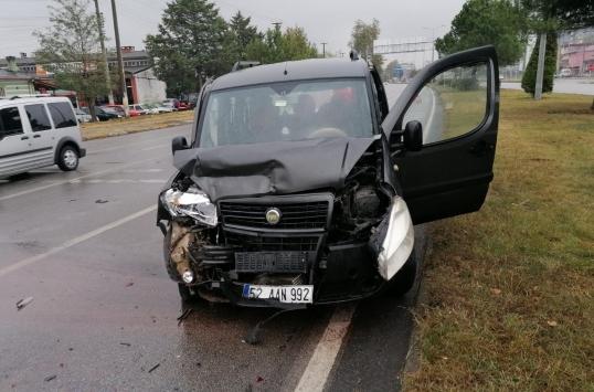 Samsunda zincirleme trafik kazasında 1 kişi yaralandı