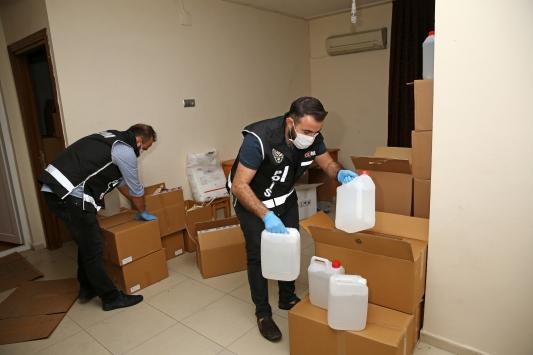 Adanada 1305 litre sahte etil alkol ele geçirildi
