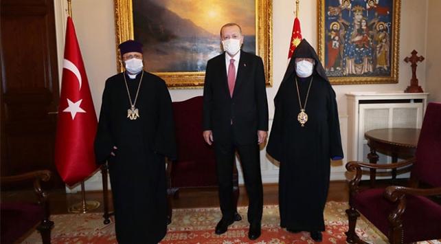 Cumhurbaşkanı Erdoğan, Patrik Maşalyan ile görüştü