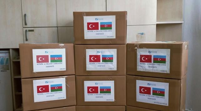Amasya Üniversitesinden Azerbaycana tıbbi malzeme desteği