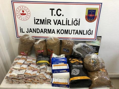 İzmirde kaçak tütün ve sigara operasyonu