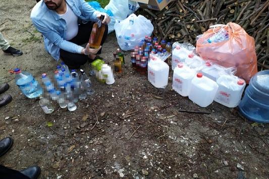 Sakaryada sahte içki operasyonu: 2 gözaltı