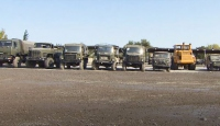 Ermeni güçlerinin kaçarken bıraktığı araçlar TRT Haber'de