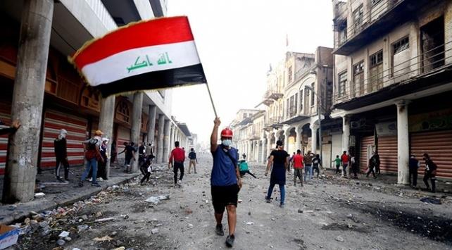 Bağdatta göstericiler ile güvenlik güçleri arasında çatışma