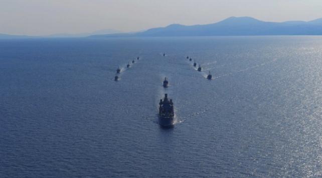 NUSRET 2020 Mayın Davet Tatbikatının deniz bölümü tamamlandı