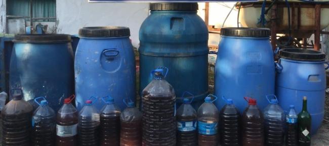 Kırklarelinde 760 litre sahte içki ele geçirildi
