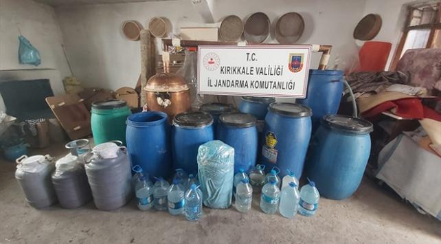 Kırıkkalede 1150 litre sahte içki ele geçirildi
