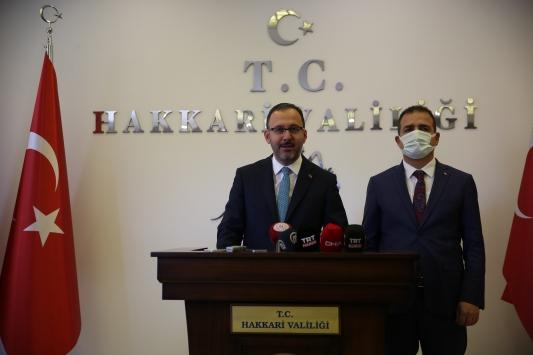 Gençlik ve Spor Bakanı Mehmet Muharrem Kasapoğlu Hakkaride
