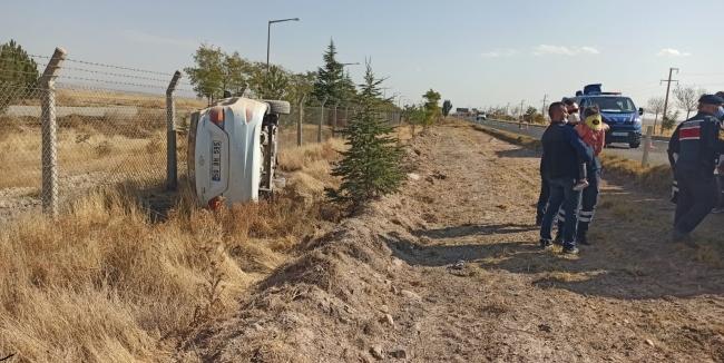 Nevşehirde devrilen otomobildeki 5i çocuk 9 kişi yaralandı