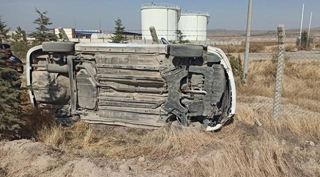 Nevşehirde otomobil devrildi: 5i çocuk 9 yaralı